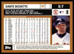 2002 Topps #57  Dante Bichette  Back Thumbnail