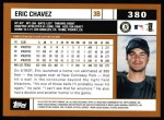 2002 Topps #380  Eric Chavez  Back Thumbnail