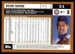 2002 Topps #31  Kevin Tapani  Back Thumbnail
