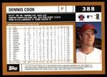 2002 Topps #388  Dennis Cook  Back Thumbnail