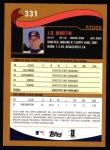 2002 Topps #331  J.D. Martin  Back Thumbnail