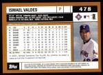 2002 Topps #478  Ismael Valdes  Back Thumbnail