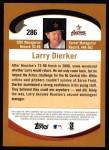 2002 Topps #286  Larry Dierker  Back Thumbnail