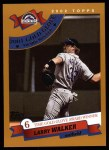 2002 Topps #713   -  Larry Walker Golden Glove Front Thumbnail