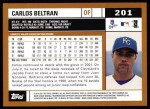 2002 Topps #201  Carlos Beltran  Back Thumbnail
