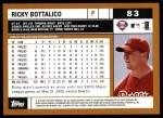 2002 Topps #83  Ricky Bottalico  Back Thumbnail