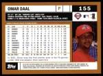 2002 Topps #155  Omar Daal  Back Thumbnail