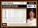 2002 Topps #173  Troy Percival  Back Thumbnail
