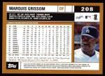 2002 Topps #208  Marquis Grissom  Back Thumbnail