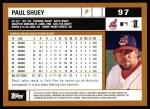 2002 Topps #97  Paul Shuey  Back Thumbnail