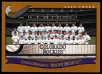 2002 Topps #650   Colorado Rockies Front Thumbnail