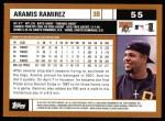 2002 Topps #55  Aramis Ramirez  Back Thumbnail