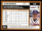 2002 Topps #29  Jason Marquis  Back Thumbnail