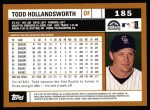 2002 Topps #185  Todd Hollandsworth  Back Thumbnail