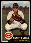 1953 Topps #252  Hank Foiles  Front Thumbnail