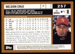 2002 Topps #257  Nelson Cruz  Back Thumbnail