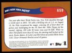 2002 Topps #659   New York Mets Back Thumbnail