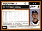 2002 Topps #45  Trevor Hoffman  Back Thumbnail