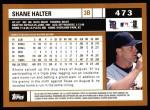 2002 Topps #473  Shane Halter  Back Thumbnail