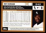 2002 Topps #242  Ray Durham  Back Thumbnail