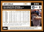 2002 Topps #396  Jeff Cirillo  Back Thumbnail
