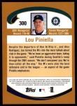 2002 Topps #300  Lou Piniella  Back Thumbnail