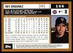 2002 Topps #166  Rey Ordonez  Back Thumbnail