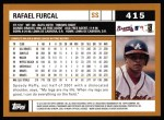 2002 Topps #415  Rafael Furcal  Back Thumbnail