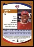 2002 Topps #311  Marlon Byrd  Back Thumbnail