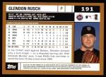 2002 Topps #191  Glendon Rusch  Back Thumbnail