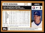 2002 Topps #401  Peter Bergeron  Back Thumbnail