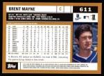 2002 Topps #611  Brent Mayne  Back Thumbnail