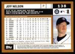 2002 Topps #138  Jeff Nelson  Back Thumbnail