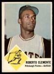 1963 Fleer #56  Roberto Clemente  Front Thumbnail