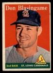 1958 Topps #199  Don Blasingame  Front Thumbnail