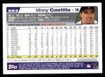 2004 Topps #563  Vinny Castilla  Back Thumbnail