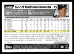 2004 Topps #408  Scott Schoeneweis  Back Thumbnail