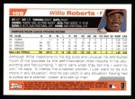 2004 Topps #105  Willis Roberts  Back Thumbnail