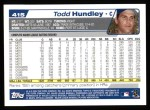 2004 Topps #415  Todd Hundley  Back Thumbnail