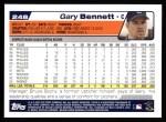 2004 Topps #248  Gary Bennett  Back Thumbnail