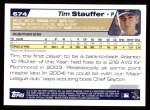 2004 Topps #674  Tim Stauffer  Back Thumbnail