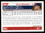 2004 Topps #681  Brad Snyder  Back Thumbnail