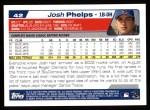 2004 Topps #42  Josh Phelps  Back Thumbnail