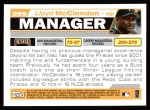 2004 Topps #289  Lloyd McClendon  Back Thumbnail