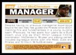 2004 Topps #289  Lloyd McClendon  Back Thumbnail