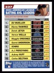 2004 Topps #337   -  Bill Mueller / Manny Ramirez / Derek Jeter Leaders Back Thumbnail