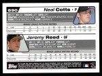 2004 Topps #690  Jeremy Reed / Neal Cotts  Back Thumbnail