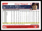 2004 Topps #143  Omar Vizquel  Back Thumbnail