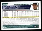 2004 Topps #206  Freddy Garcia  Back Thumbnail
