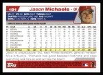 2004 Topps #181  Jason Michaels  Back Thumbnail